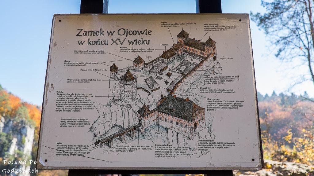 zamek-w-ojcowie-plan-zamku