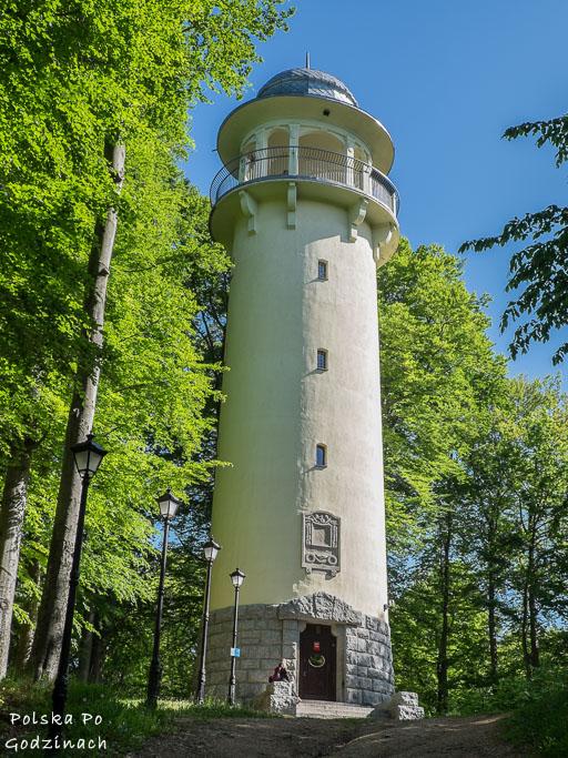 Wieża widokowa na Wzgórzu Bolesława Krzywoustego w Jeleniej Górze. Nie lada atrakcja miasta.