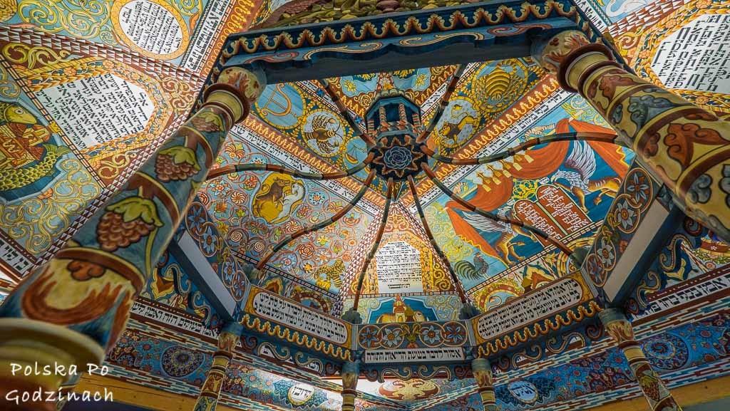dekoracje synagogi w gwoźdźcu rekonstrukcja