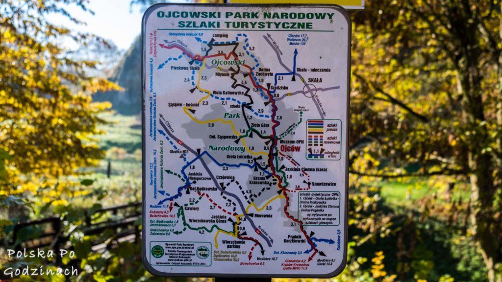 mapa-ojcowskiego-parku-narodowego-i-szlakow-turystycznych
