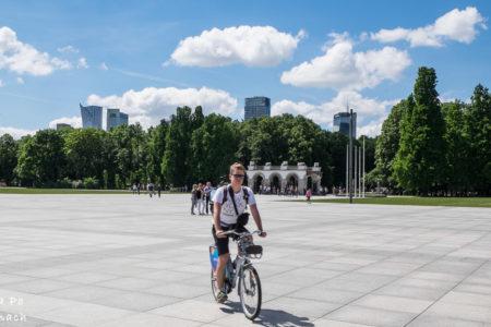 Rowerem miejskim przez Warszawę