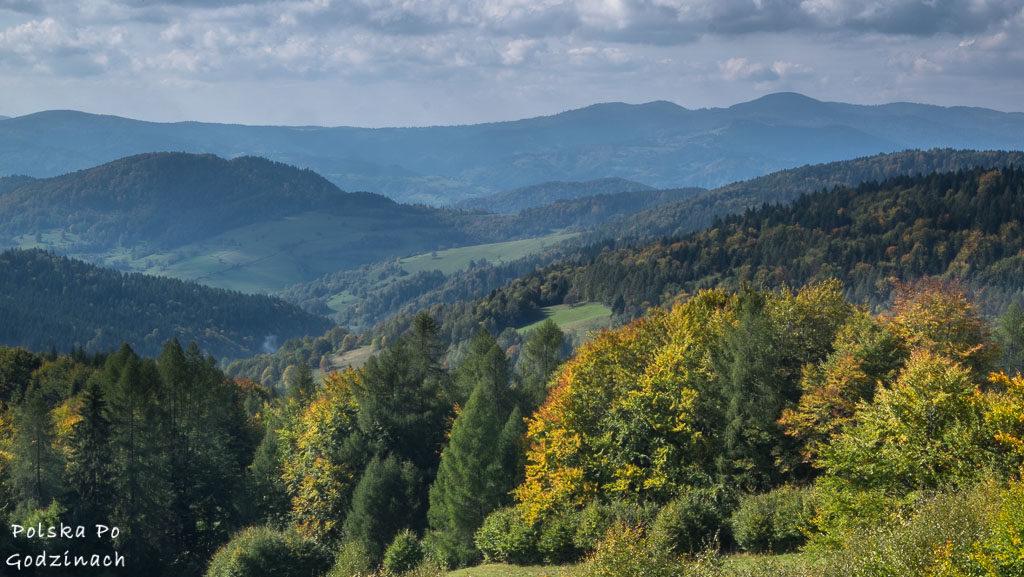 Górska panorama z Beskidu Sądeckiego