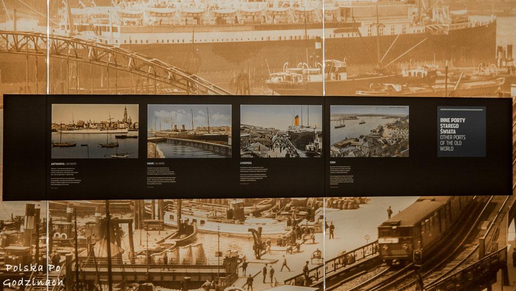 Zdjęcia portów z całego świata w Muzeum Emigracji w Gdyni