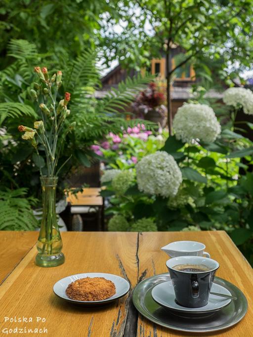Ogród w kawiarni Arka