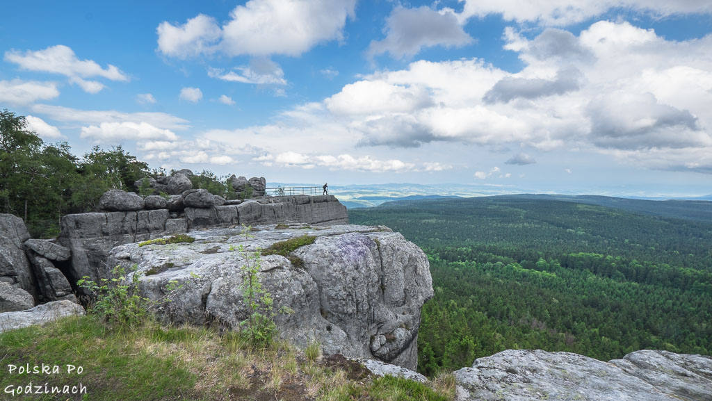 Polska ciekawe miejsca. Widok ze szczytu Szczelińca Wielkiego