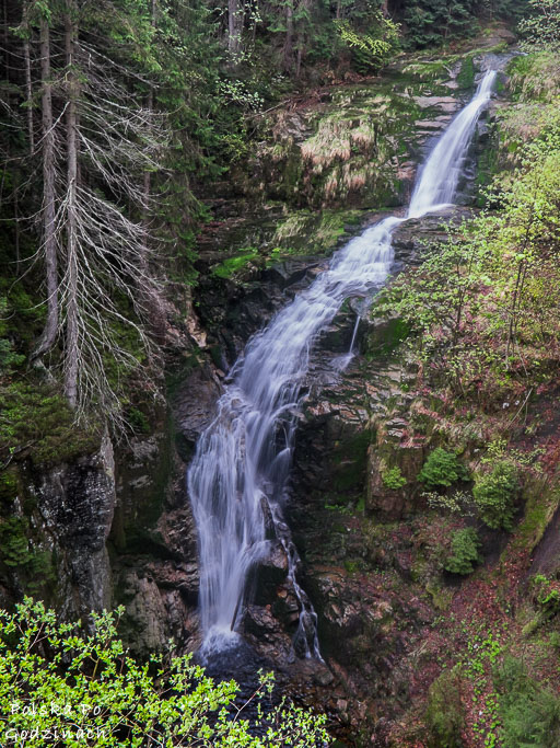 Wodospad Kamieńczyka to najwyższy wodospad w Karkonoszach