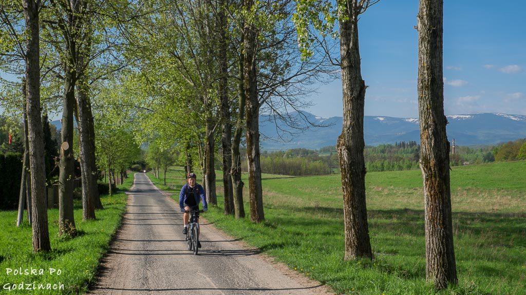 Trasy rowerowe z widokami na Karkonosze