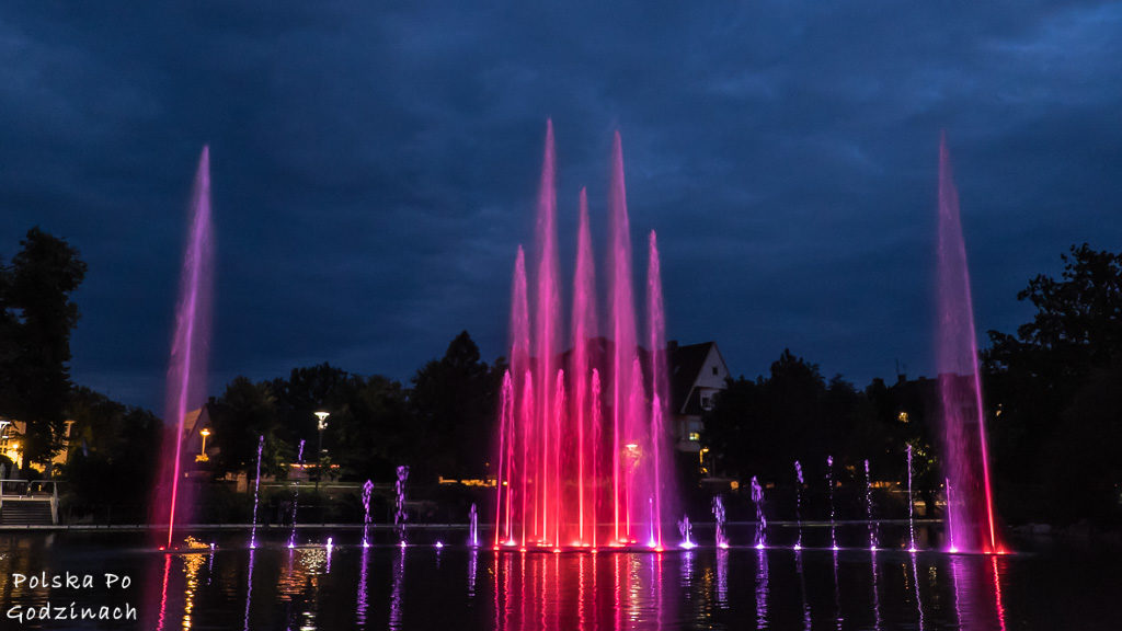 Pokaz fontann w Opolu