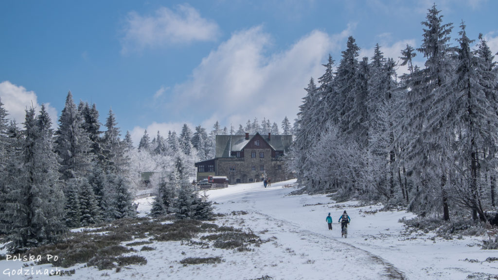 Klimczok zimą szlak
