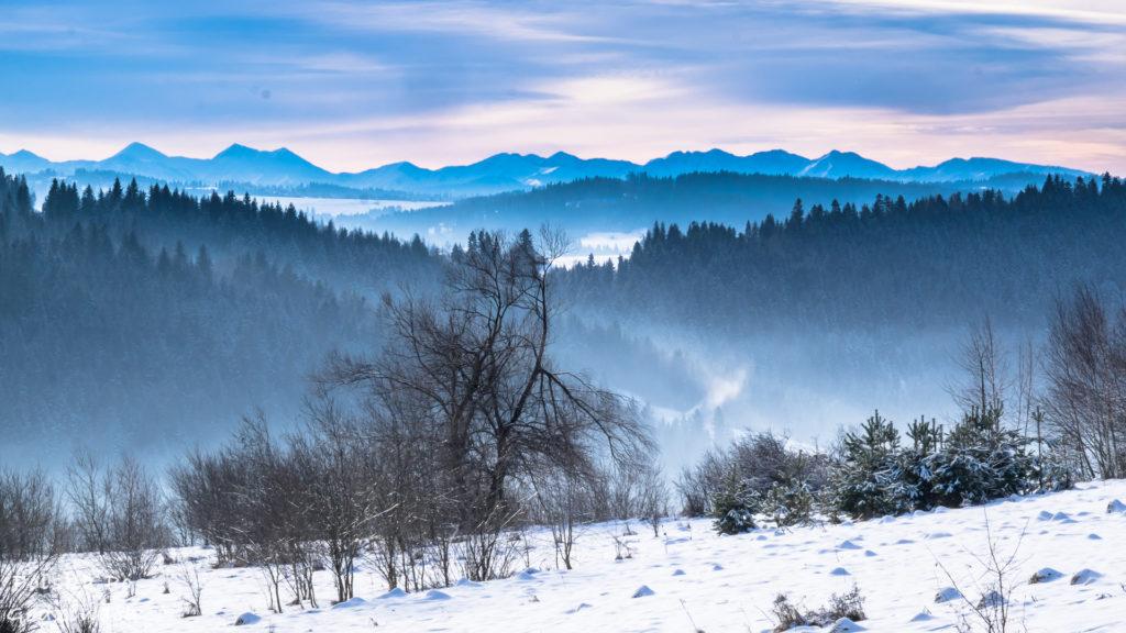 widoki zima