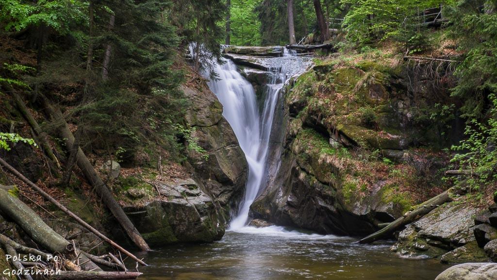 Wodospad Szklarki to jeden z najpiekiejszych w calych Karkonoszach