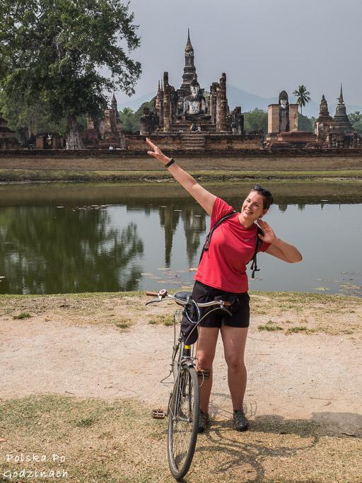 zwiedzanie Sukhothai na rowerze