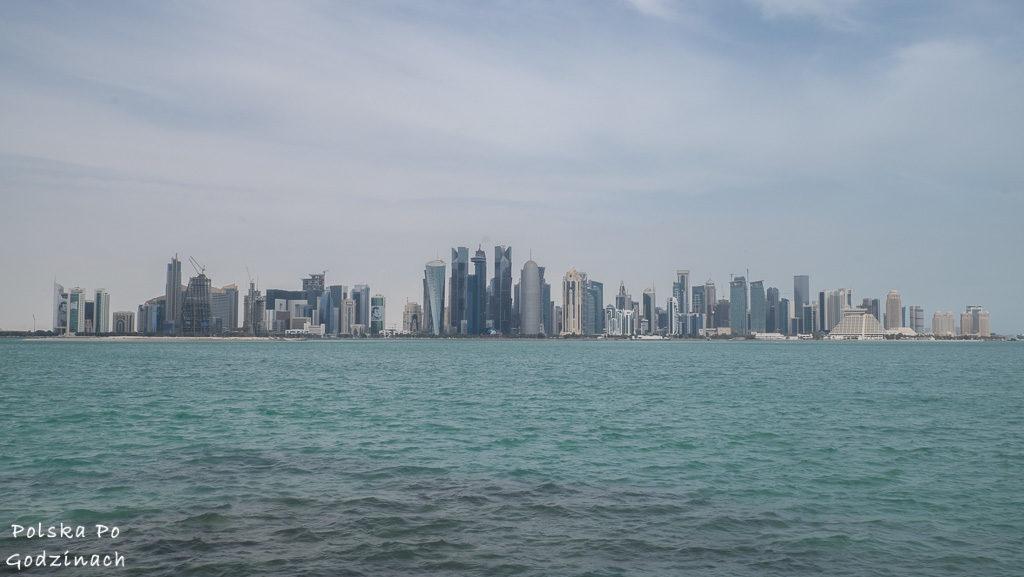 Widok na dzielnica biurową w Doha