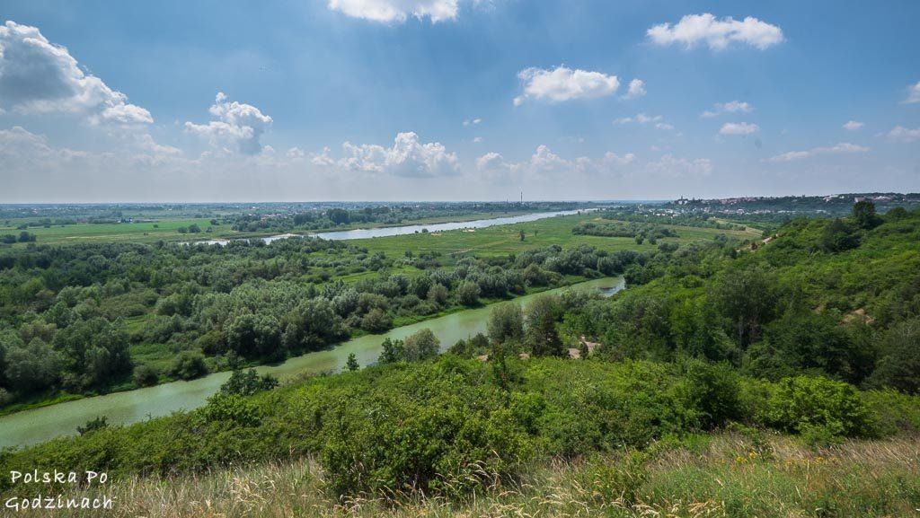 Widok na Wisłę i Sandomierz z Gór Pieprzowych