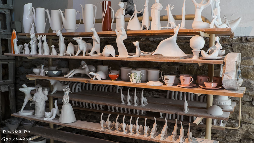 Wnętrze pracowni w muzeum porcelany w Ćmielowie