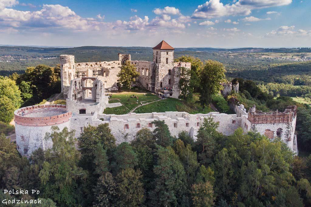 widoki na Zamek Tenczyn w Rudnie zdrona