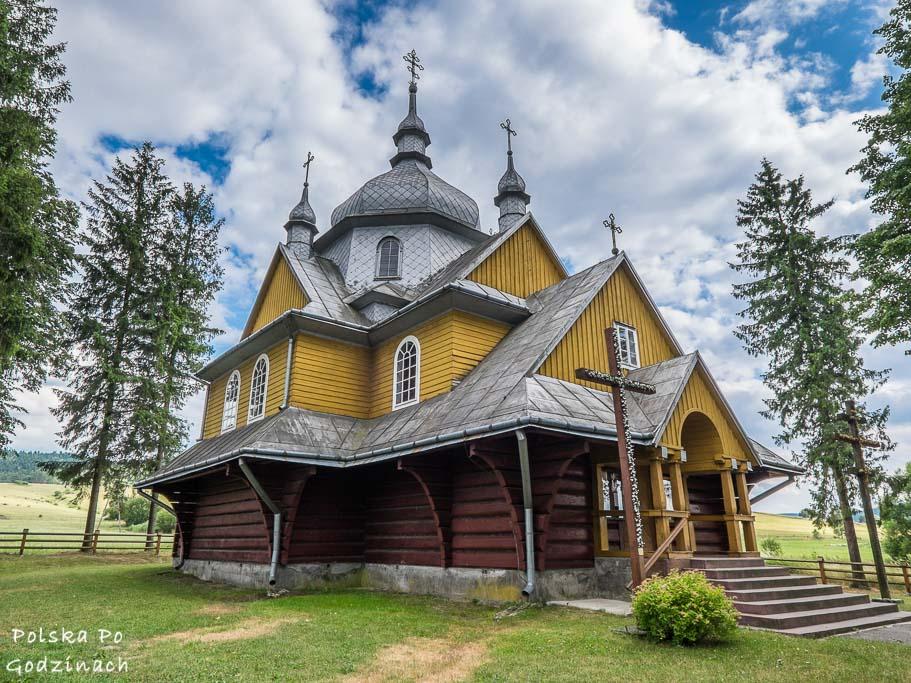 drewniana cerkiew w gładyszowie na szlaku architektury drewnianej w małopolsce