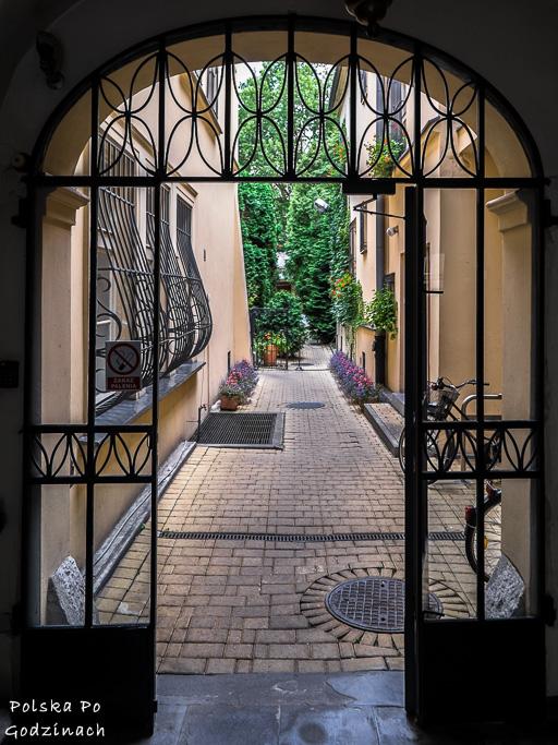 brama prowadząca do ogrodu Meho Cafe w Krakowie na Krupniczej