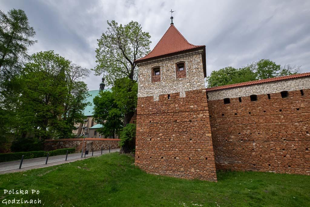 kamienne mury miejskie i baszta w olkuszu