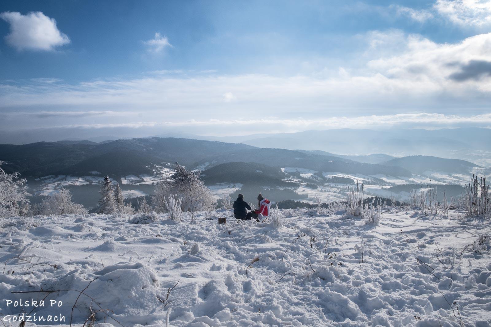 Zima na szczycie Ćwilina.