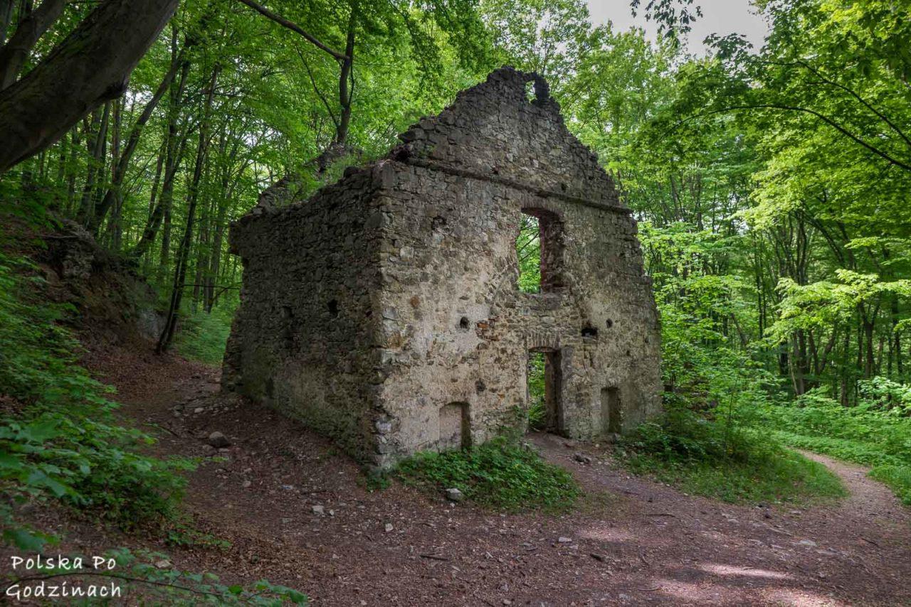 ruiny furty klasztornej w dolinie eliaszówki